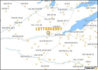 Letterkenny Ireland Map.Letterkenny Ireland Map Nona Net