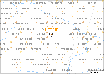 map of Letzin