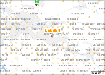 map of Leuben