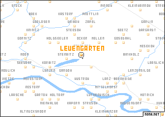 map of Leuengarten