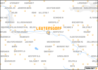 map of Leutersdorf