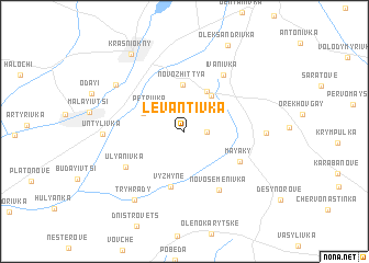 map of Levantivka