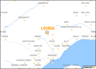 map of Le Vaud