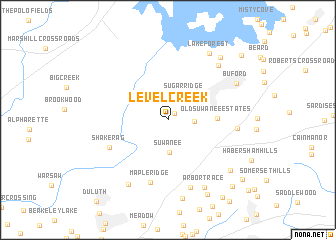 map of Level Creek