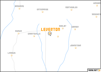 map of Leverton