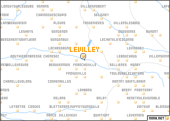map of Le Villey
