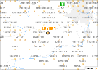map of Leymen