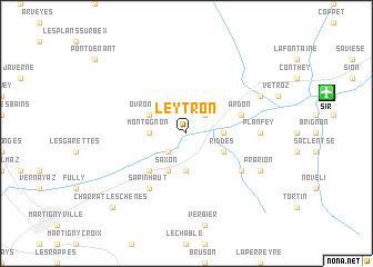 map of Leytron