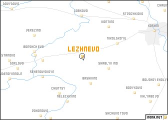 map of Lezhnëvo