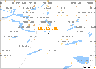 map of Libbesicke
