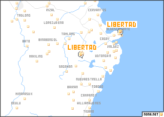 map of Libertad