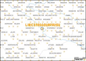 map of Libice nad Doubravou