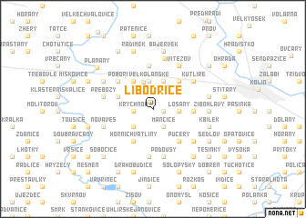 map of Libodřice
