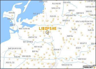 map of Libofshë