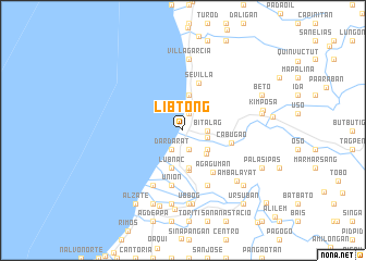 map of Libtong