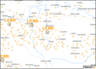 map of Ličani
