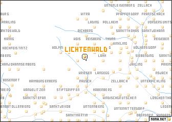 map of Lichtenwald