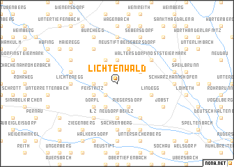 map of Lichtenwald
