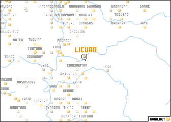 map of Licuan