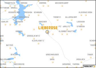map of Lieberose