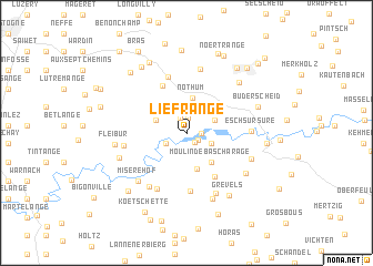 map of Liefrange