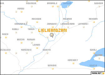 map of Lielie Andžani
