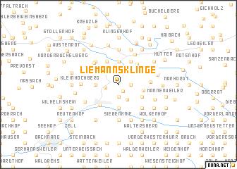 map of Liemannsklinge