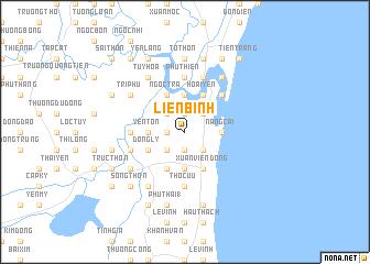 map of Lièn Bình