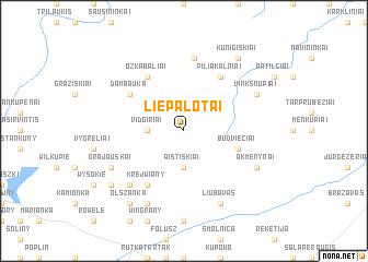 map of Liepalotai