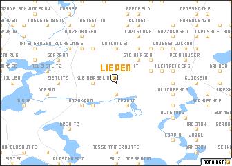 map of Liepen