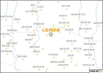 map of Lieporai