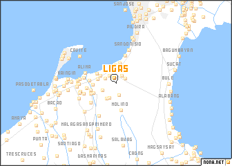 map of Ligas