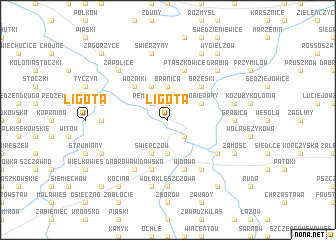 map of Ligota