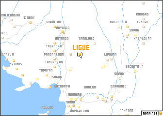 map of Ligue