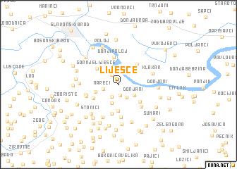 map of Liješće
