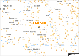 map of Lijeska