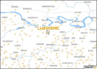 map of Lijeskovac