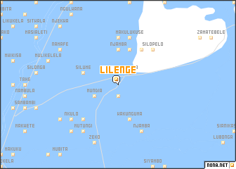 map of Lilenge
