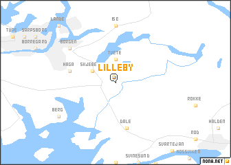 map of Lilleby