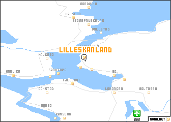map of Lille Skånland