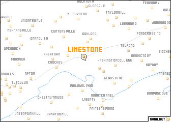 Limestone United States Usa Map Nona Net