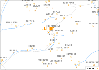 map of Limón