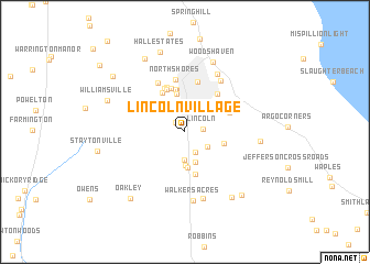 map of Lincoln Village