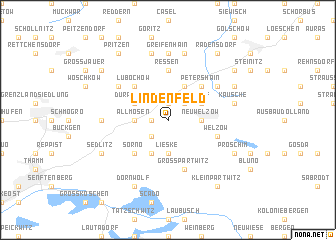 map of Lindenfeld