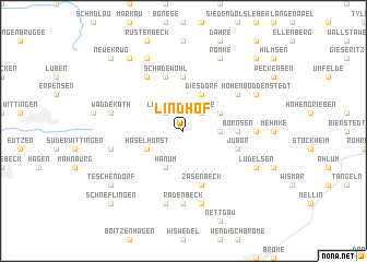 map of Lindhof