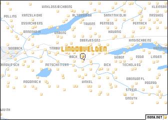 map of Lind ob Velden
