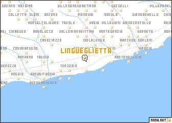 map of Lingueglietta
