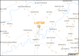 map of Linton