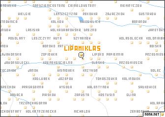 map of Lipa Miklas
