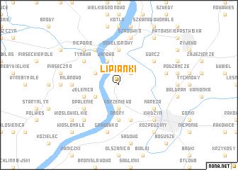 map of Lipianki